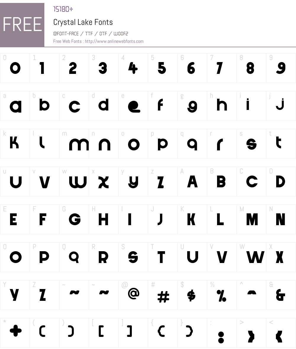 Crystal Lake Font Screenshots
