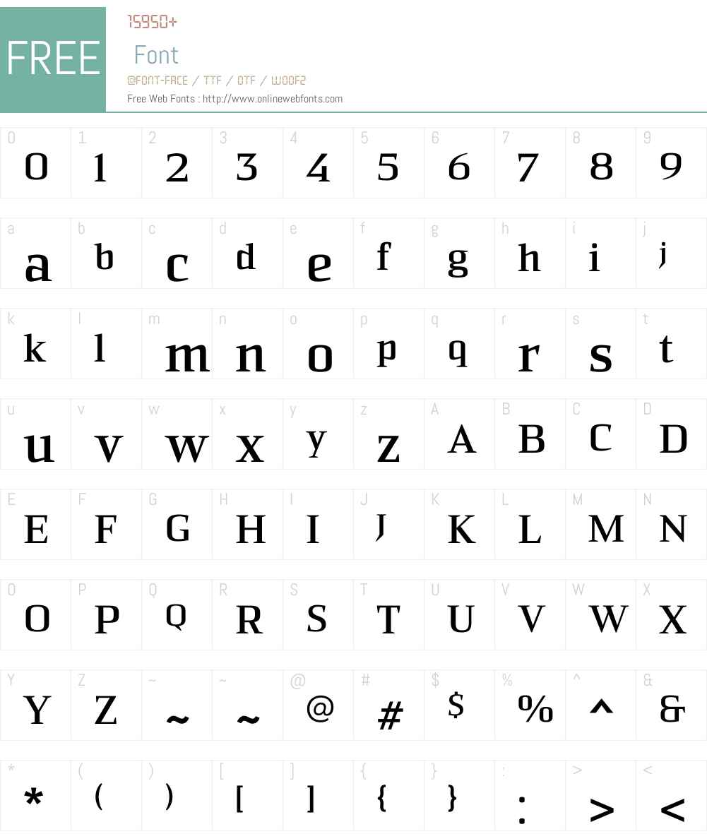 Sommet Serif Bold Font Screenshots
