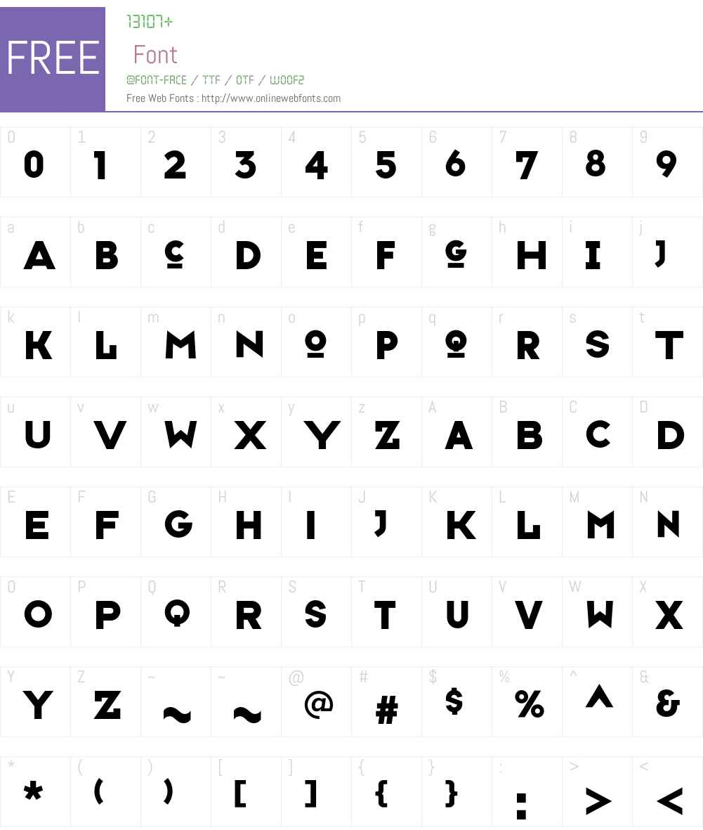 TypefaceSix Font Screenshots