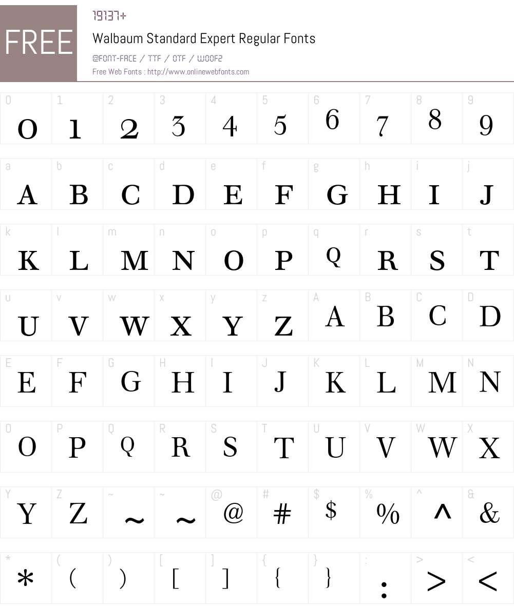Walbaum Standard Expert BQ Font Screenshots