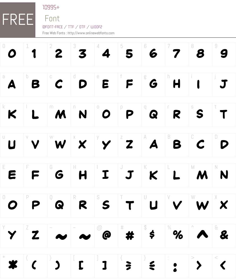 CCChatterbox-Bold Font Screenshots