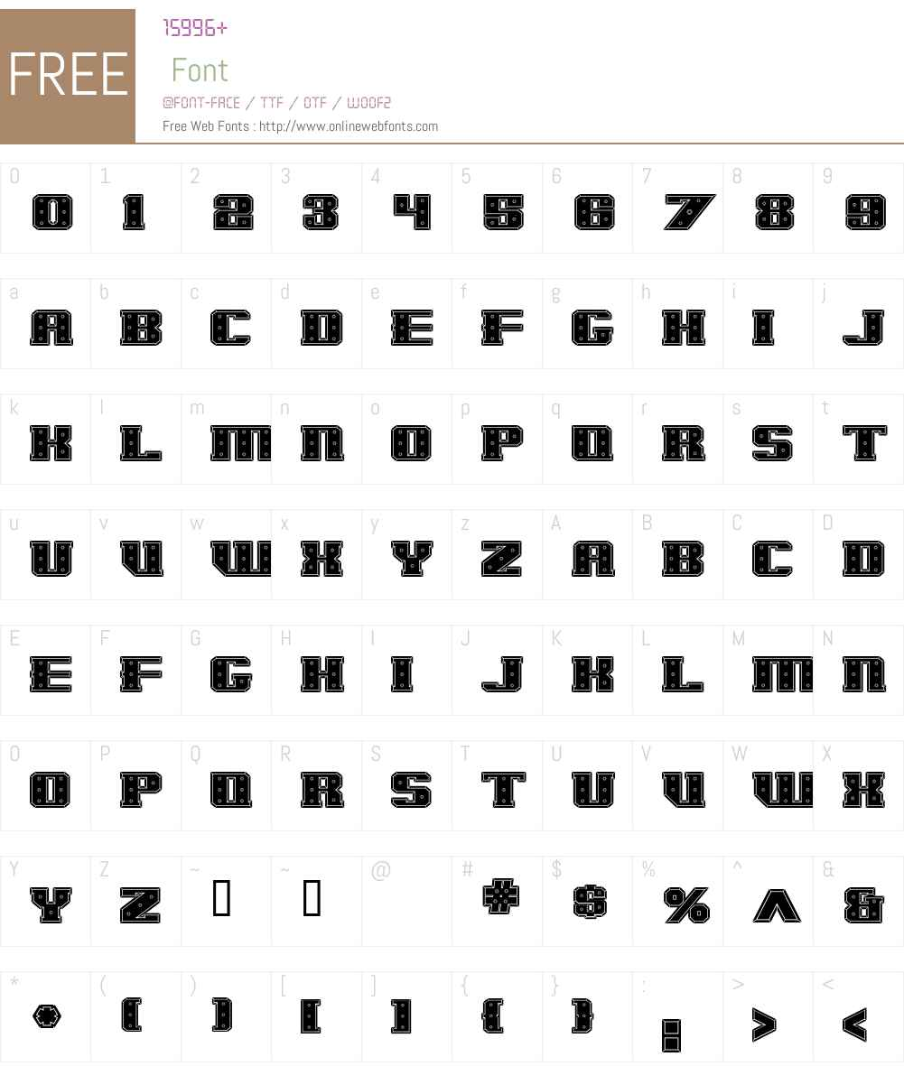 IronCladBoltedRaised Font Screenshots