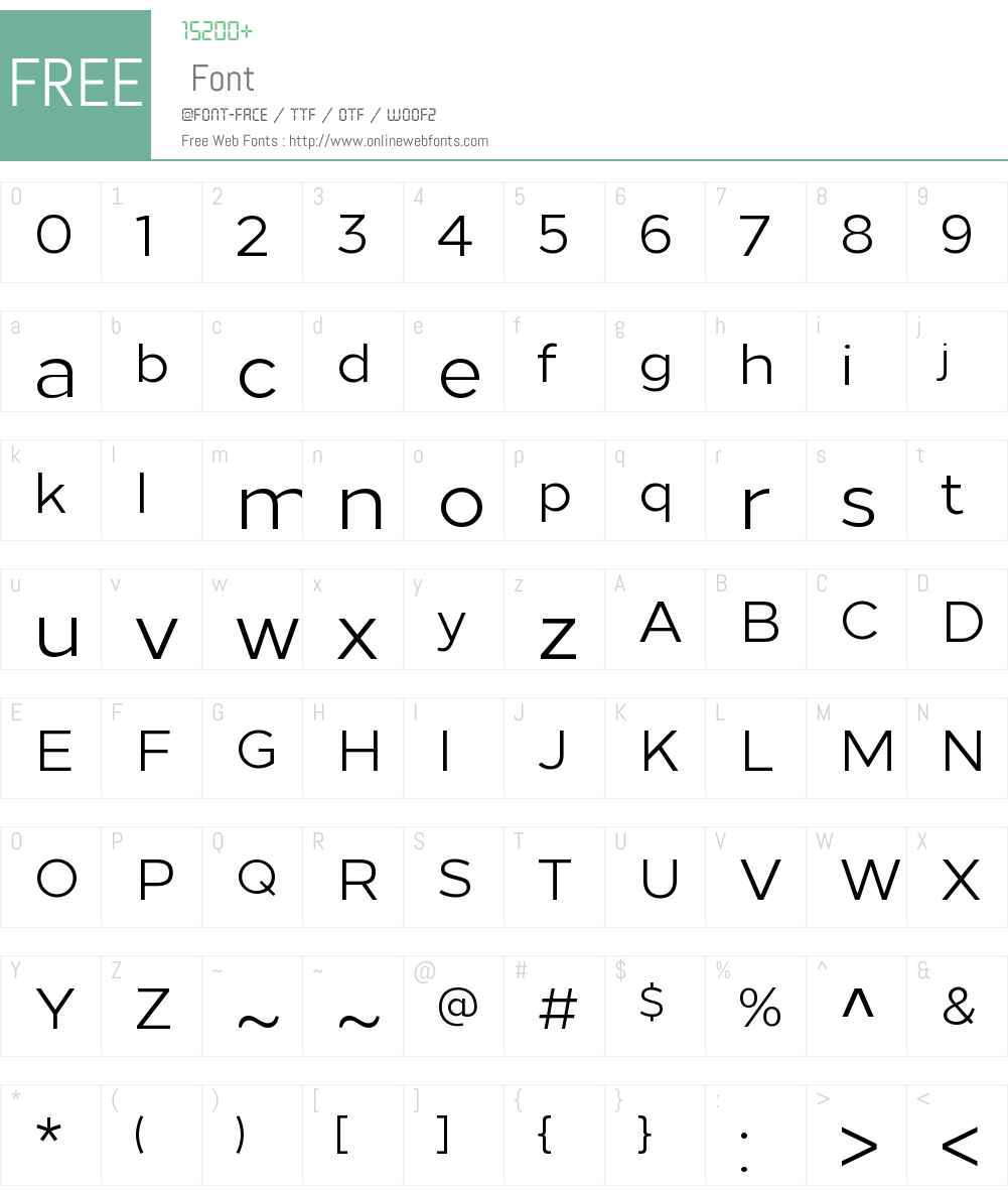 Loew Font Screenshots