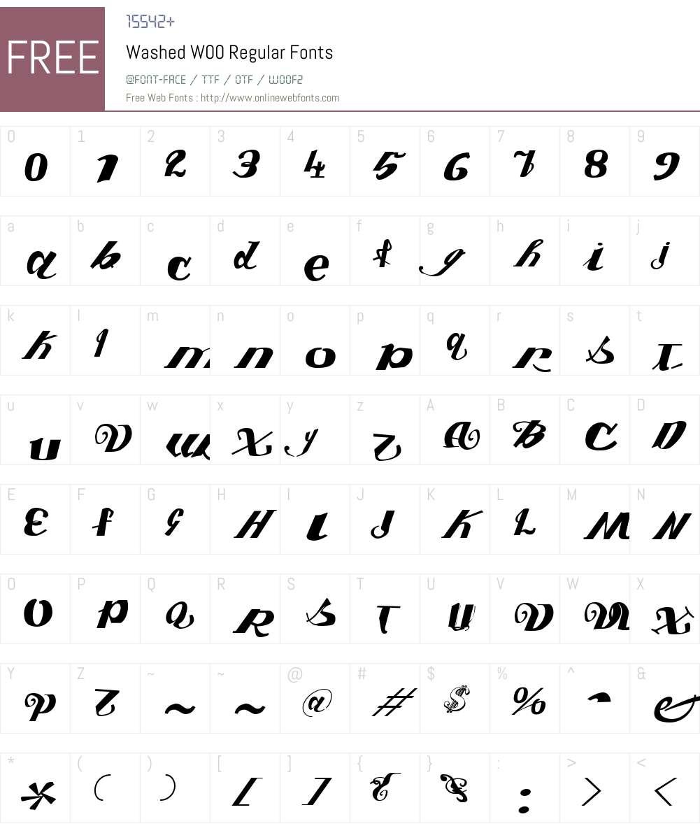 Washed Font Screenshots