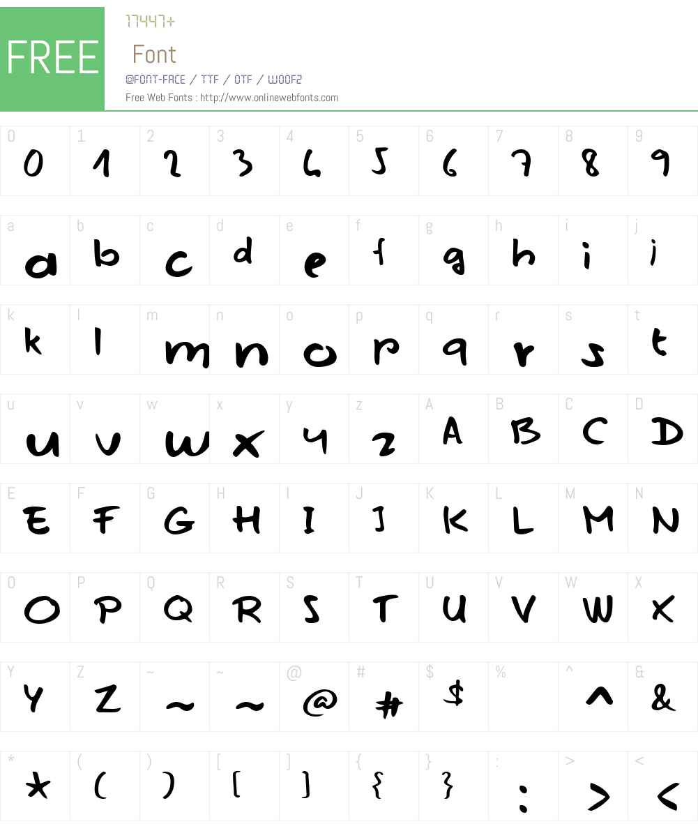 Mojito in June Font Screenshots