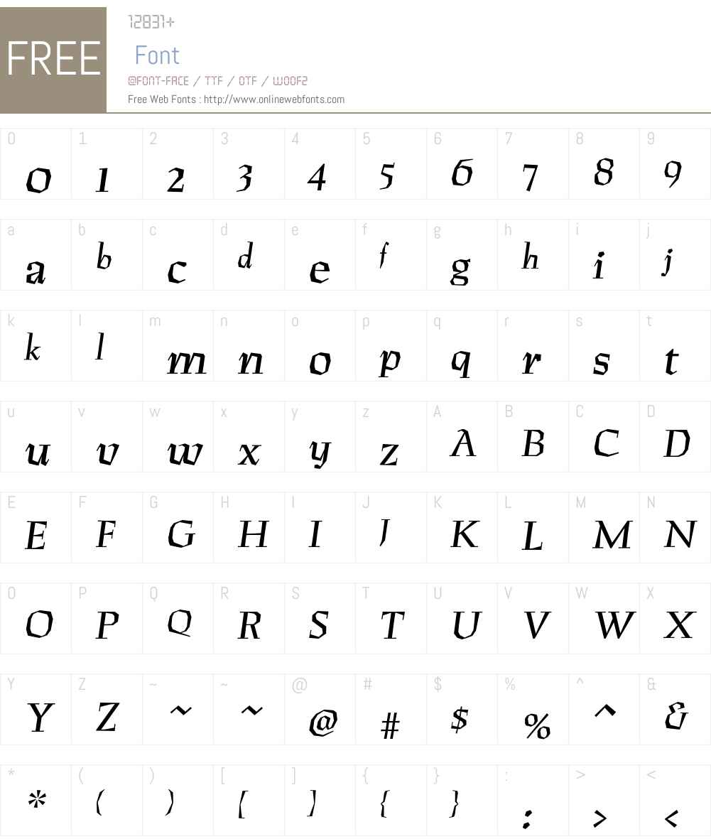 RuzenaAntikva Font Screenshots