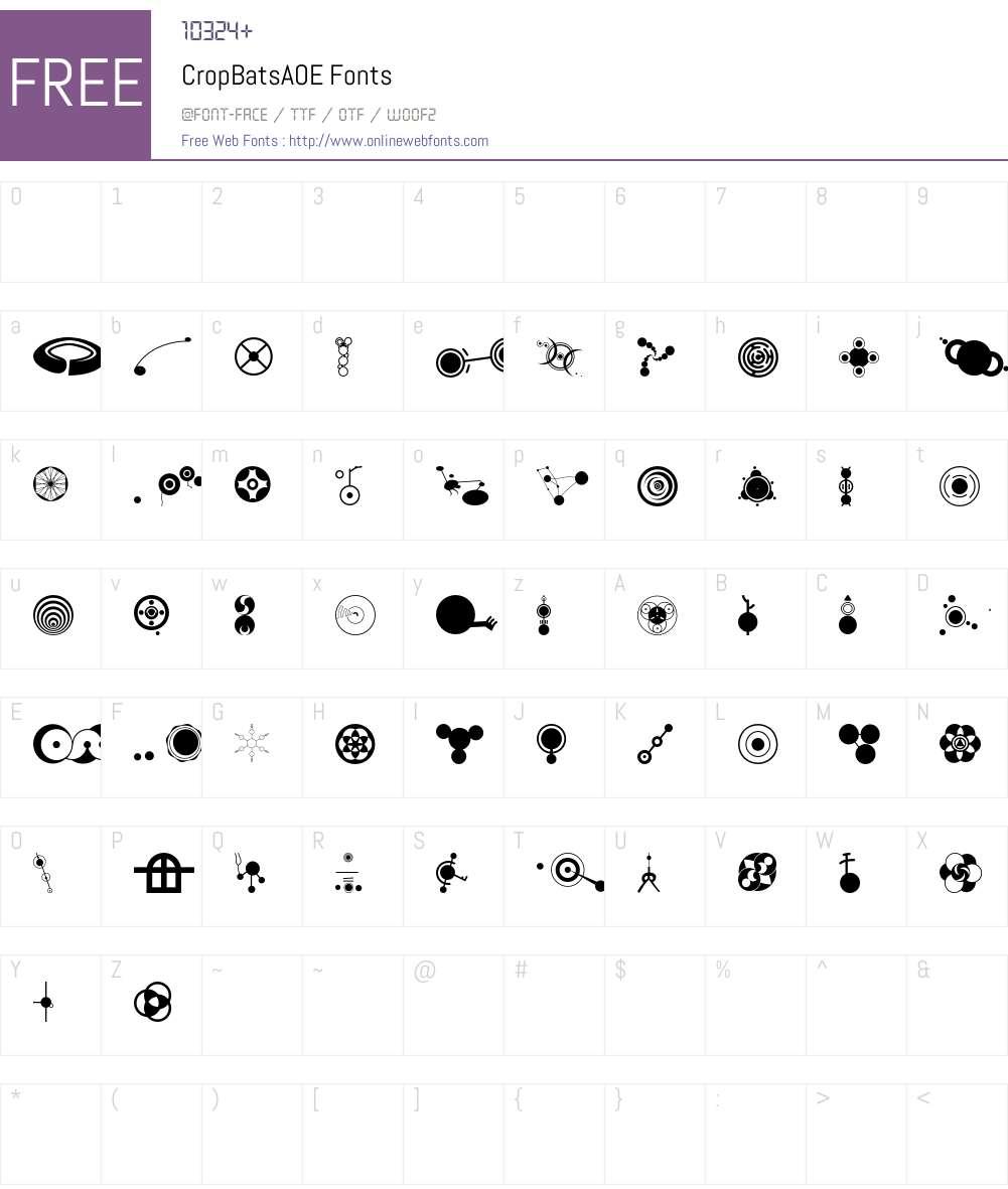 CropBatsAOE Font Screenshots