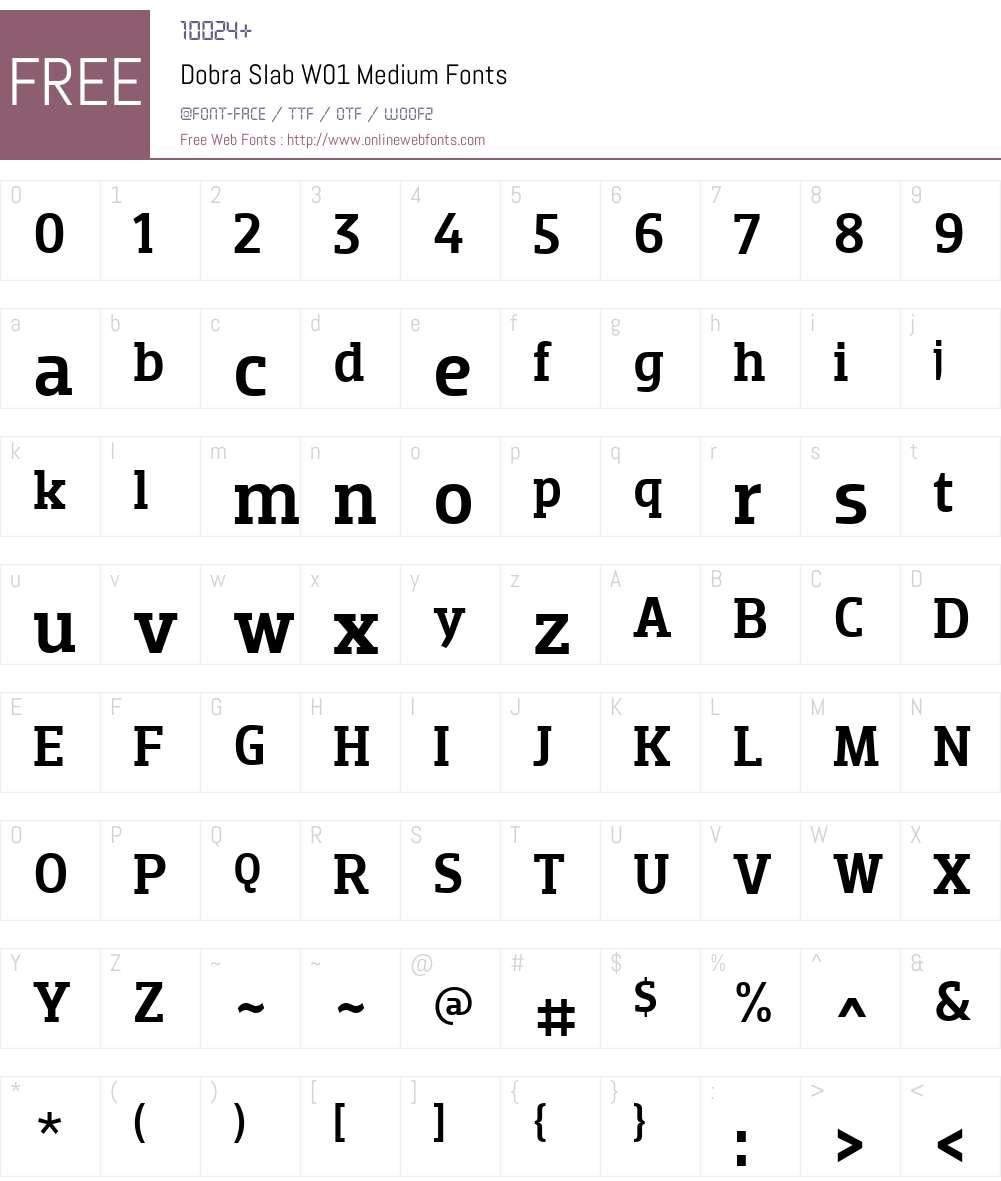 DobraSlabW01-Medium Font Screenshots