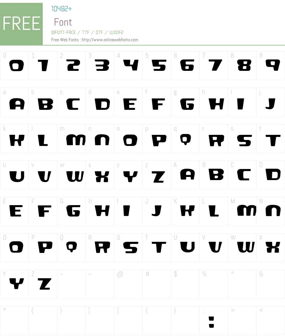 Saru Font Screenshots