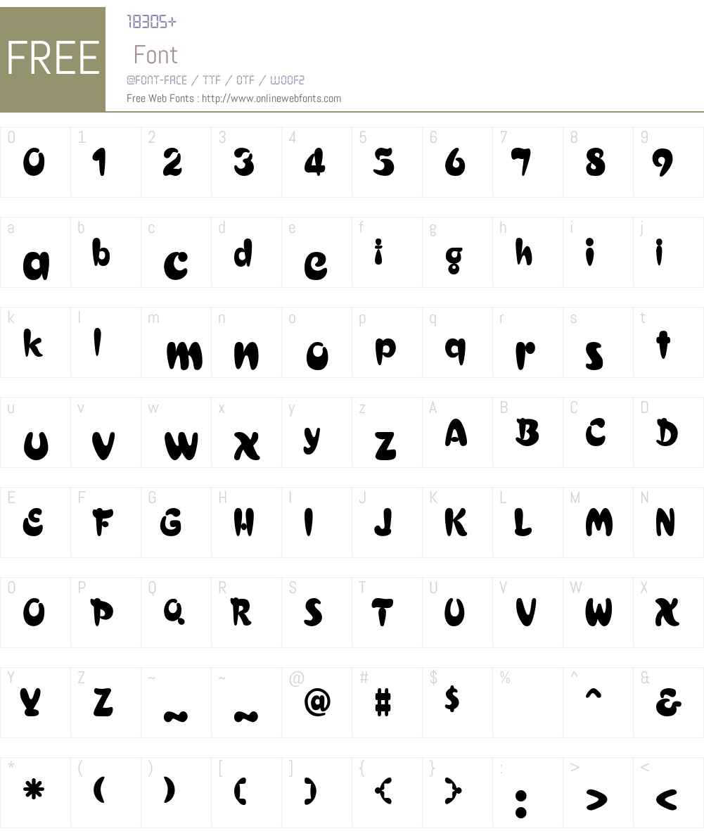 Meraviant Font Screenshots