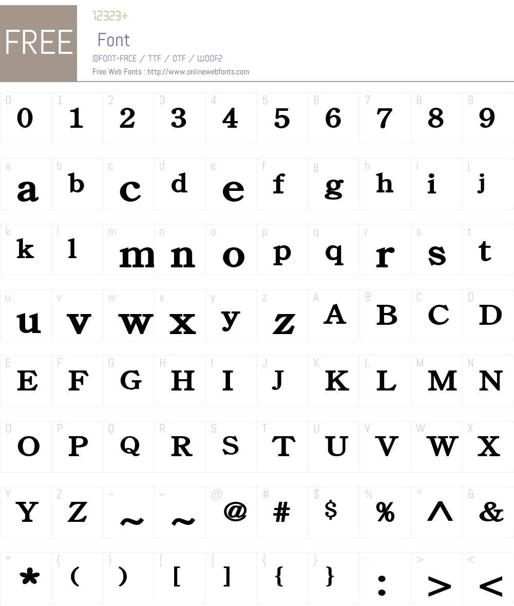 Cento Wide Font Screenshots