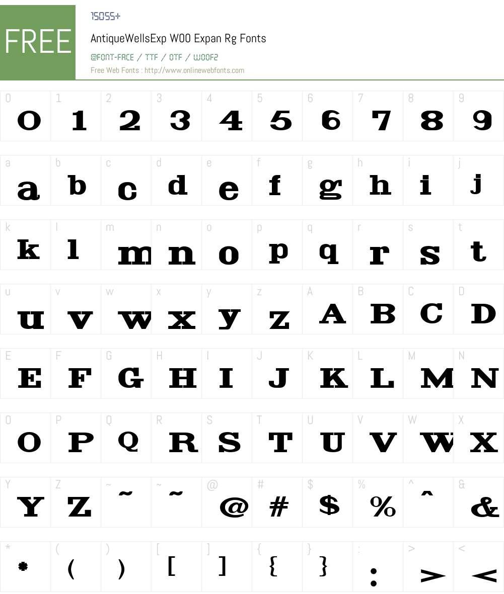 AntiqueWellsExpW00-ExpanRg Font Screenshots