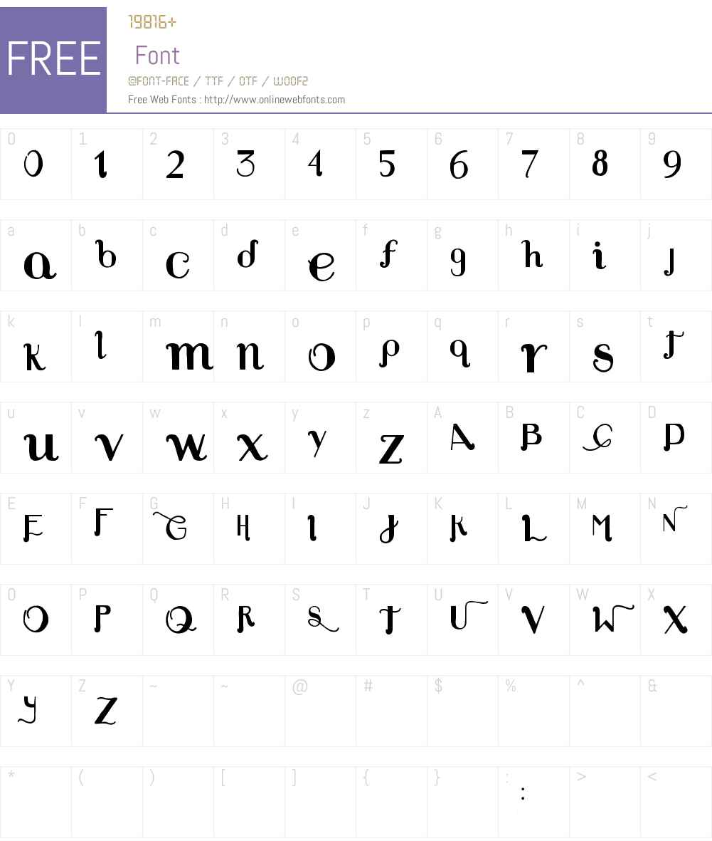 Louie's Font Font Screenshots