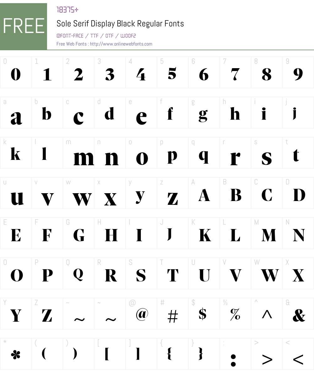 Sole Serif Display Black Font Screenshots