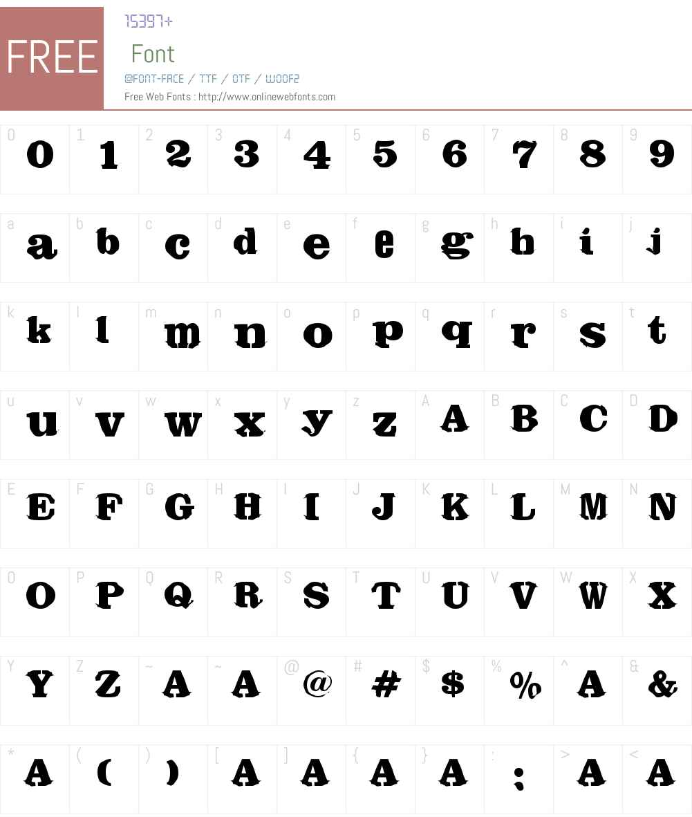 Register Font Screenshots