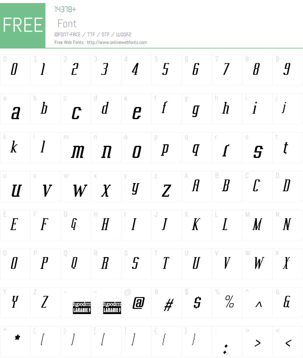 Vahika Font Screenshots
