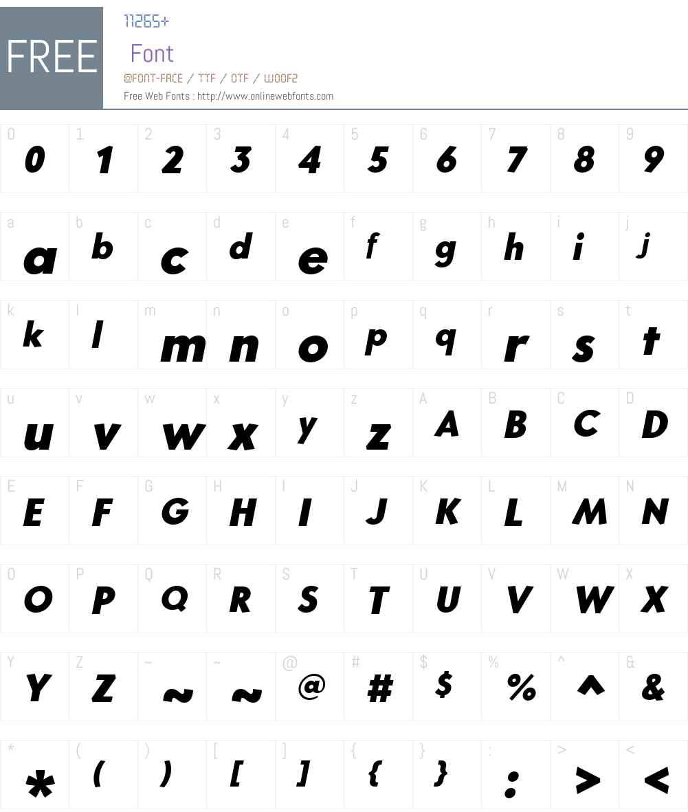 CoreSansGW01-85HeavyItalic Font Screenshots