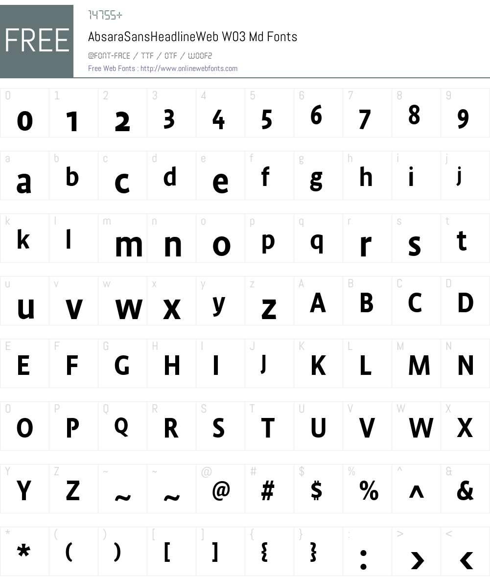 FF Absara Sans Headline Font Screenshots