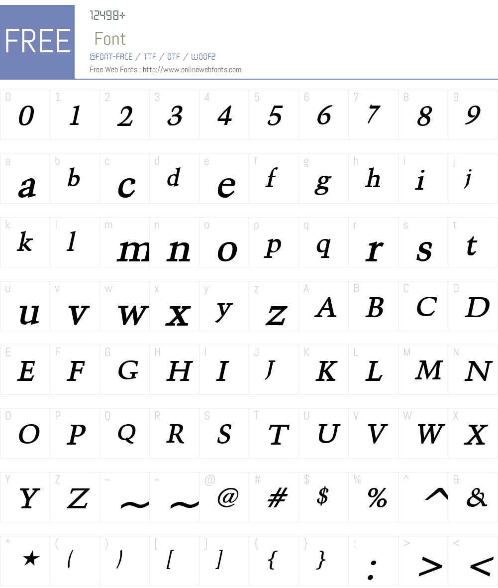 Congo Font Screenshots