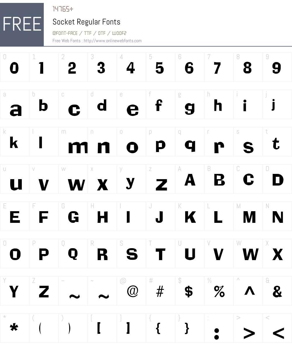 Socket Font Screenshots