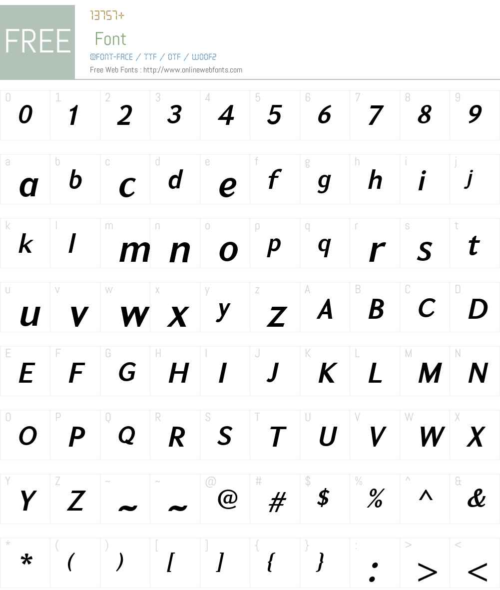 GHEAKoryunW01-DemiBoldIt Font Screenshots