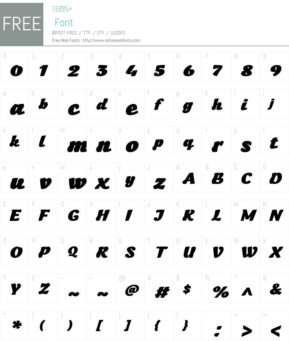 Kraaken FY Font Screenshots