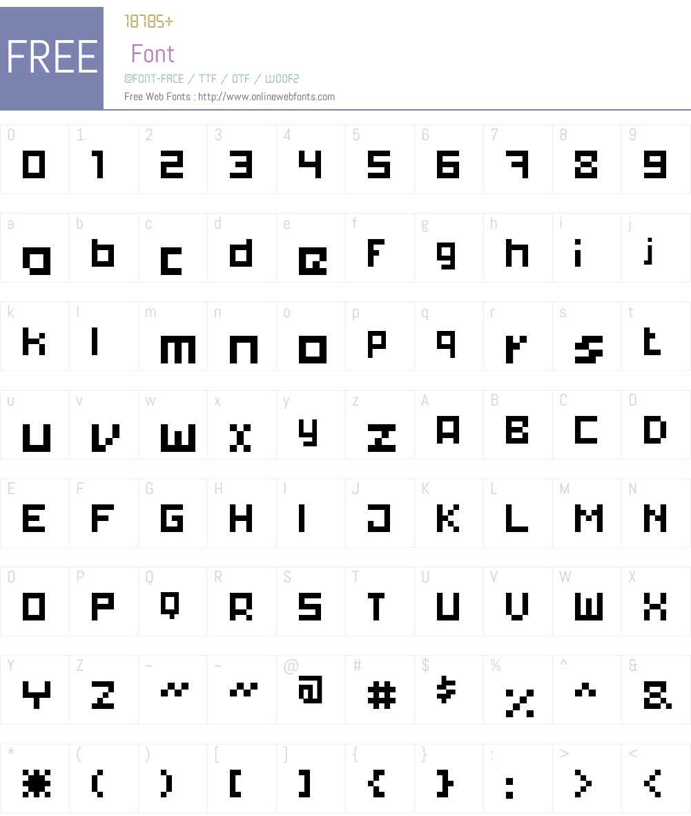 xpdr02 Font Screenshots