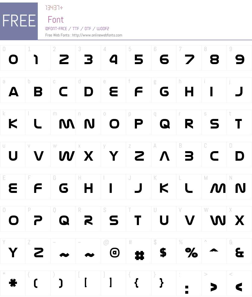 Nasalization Font Screenshots