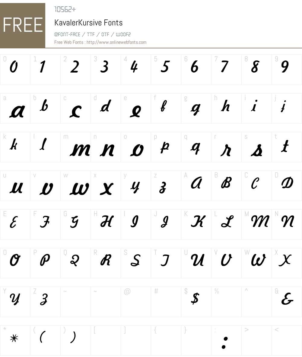 Kavaler Font Screenshots