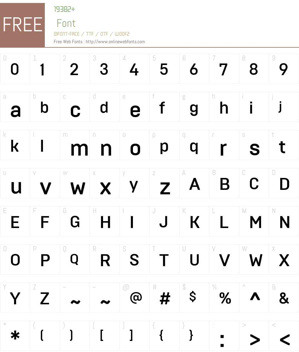 Brutal Type Font Screenshots