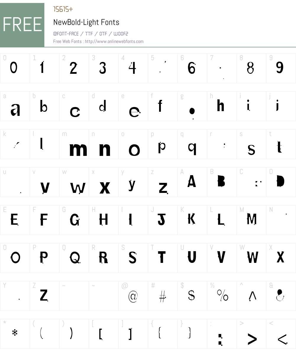NewBold-Light Font Screenshots