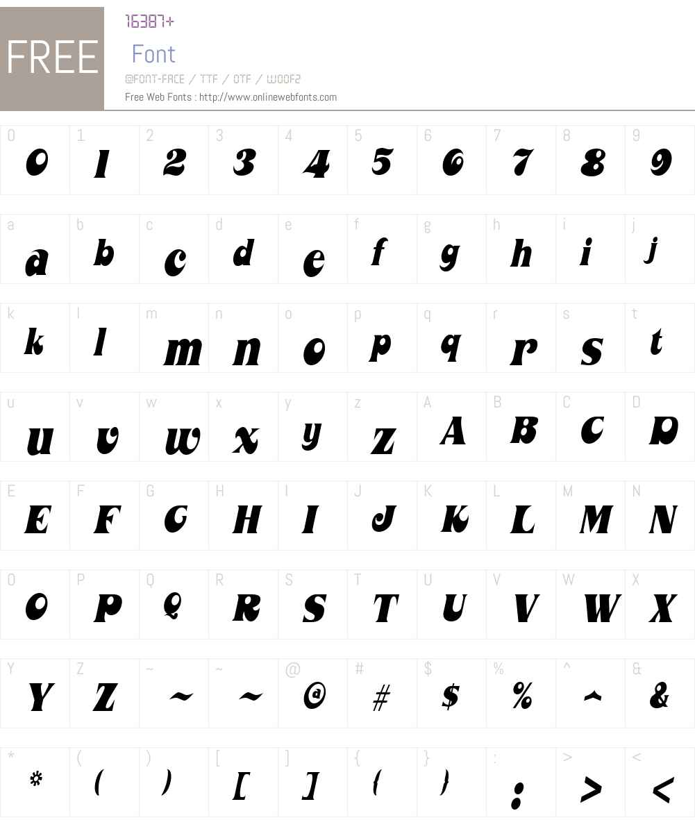 Mahaney Font Screenshots