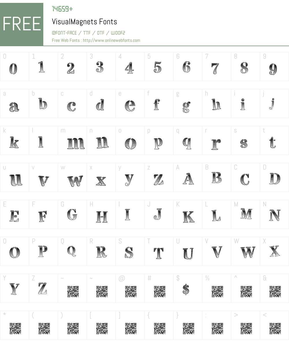 VisualMagnets Font Screenshots