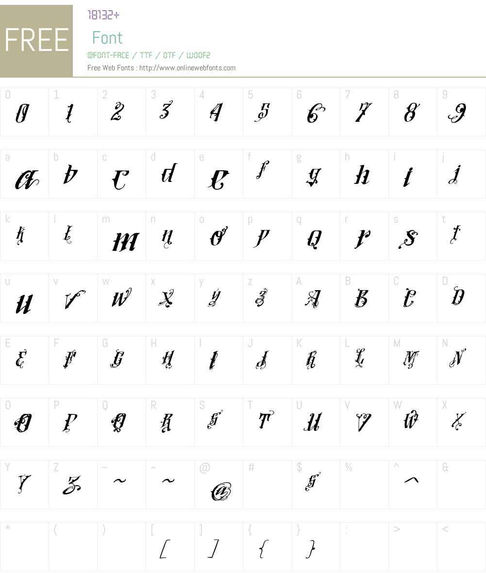 Vtks Lovers Italic Font Screenshots