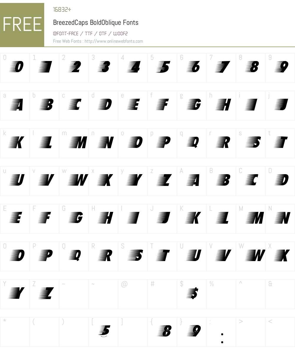 BreezedCaps Font Screenshots