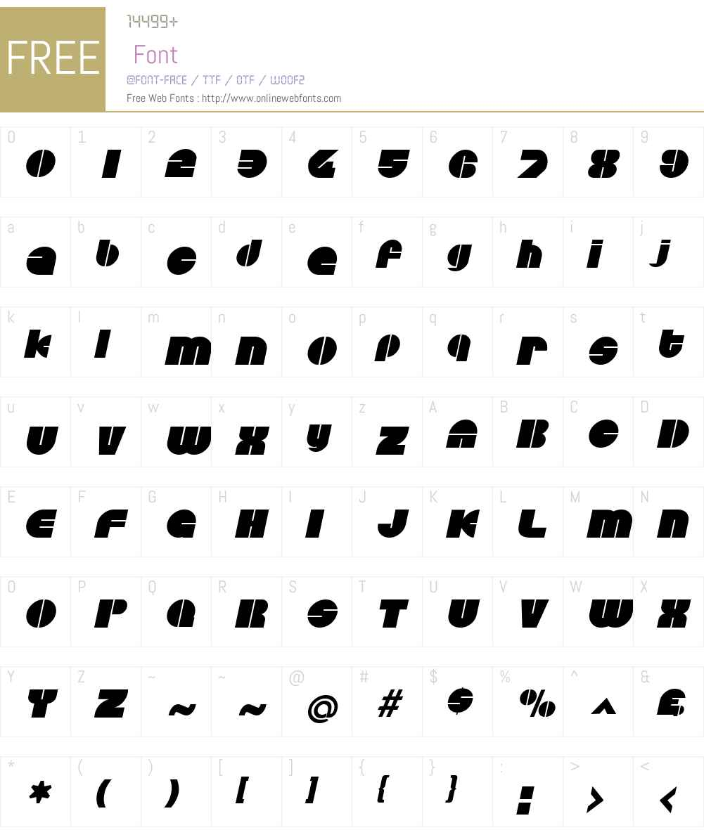 Discotheque Font Screenshots