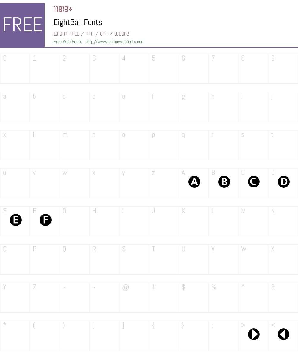 Eight Font Screenshots
