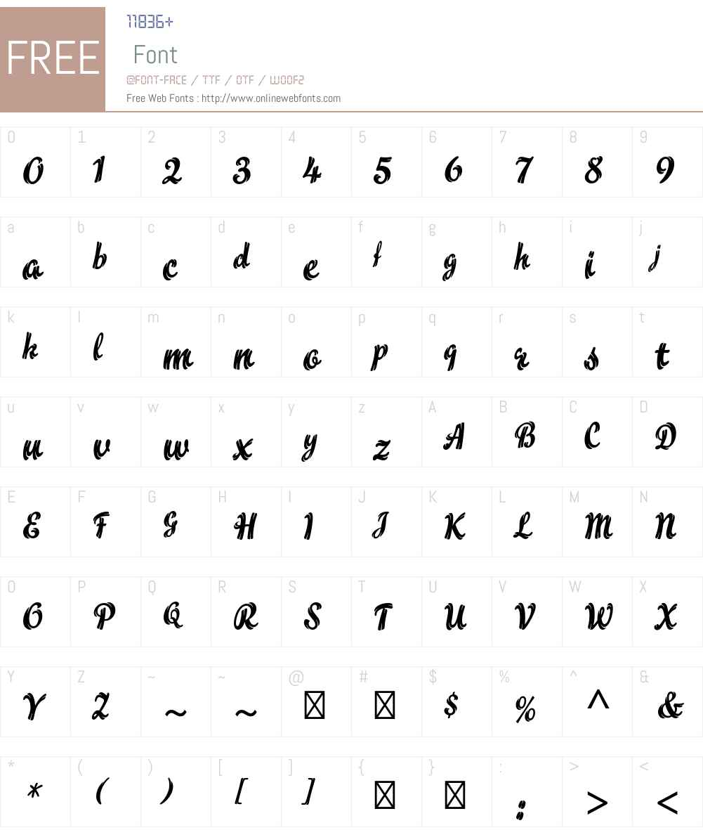 Flamme Std Font Screenshots