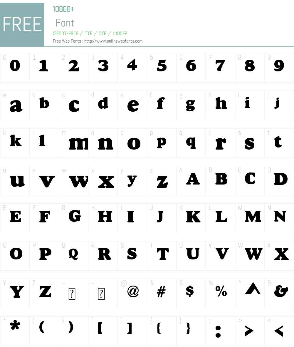 Gordo Font Screenshots