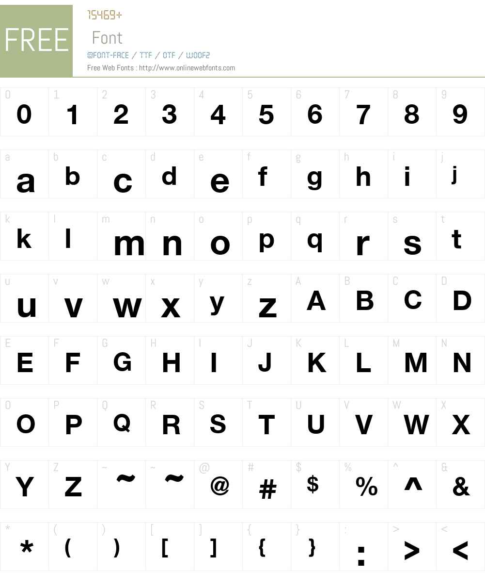 NimbusSanNovW00-Bold Font Screenshots