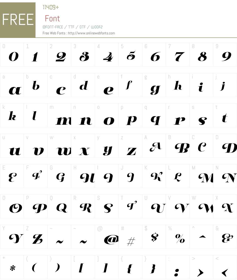 PaulineDidoneW01-BlackIt Font Screenshots