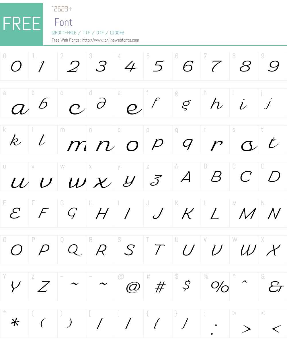 Caridade Light Font Screenshots