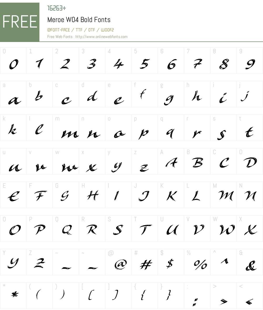 Meroe Font Screenshots