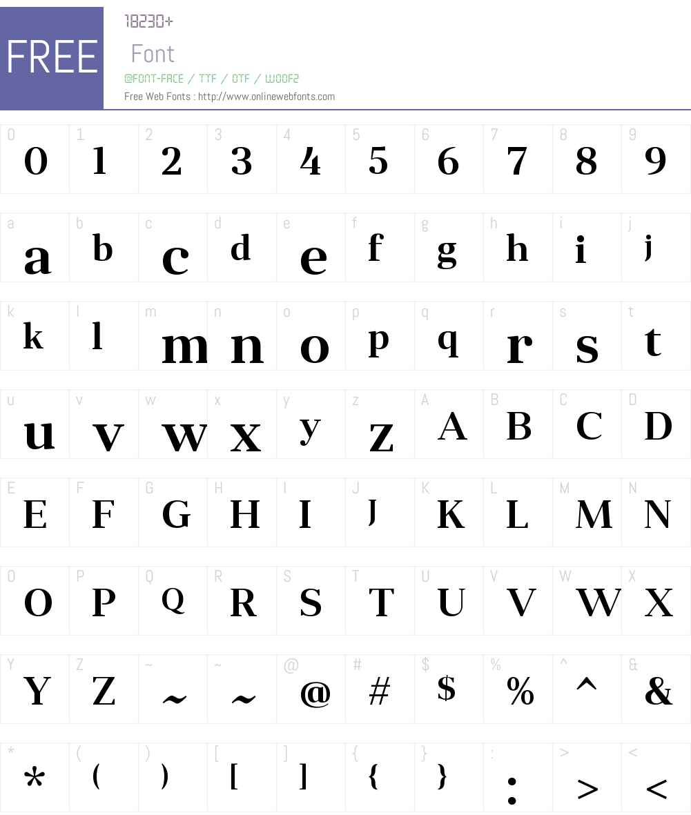 AngleciaProTitleW01-SemiBd Font Screenshots
