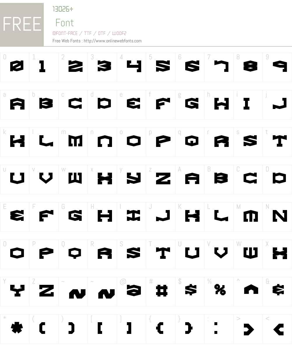 Gyrose BRK Font Screenshots