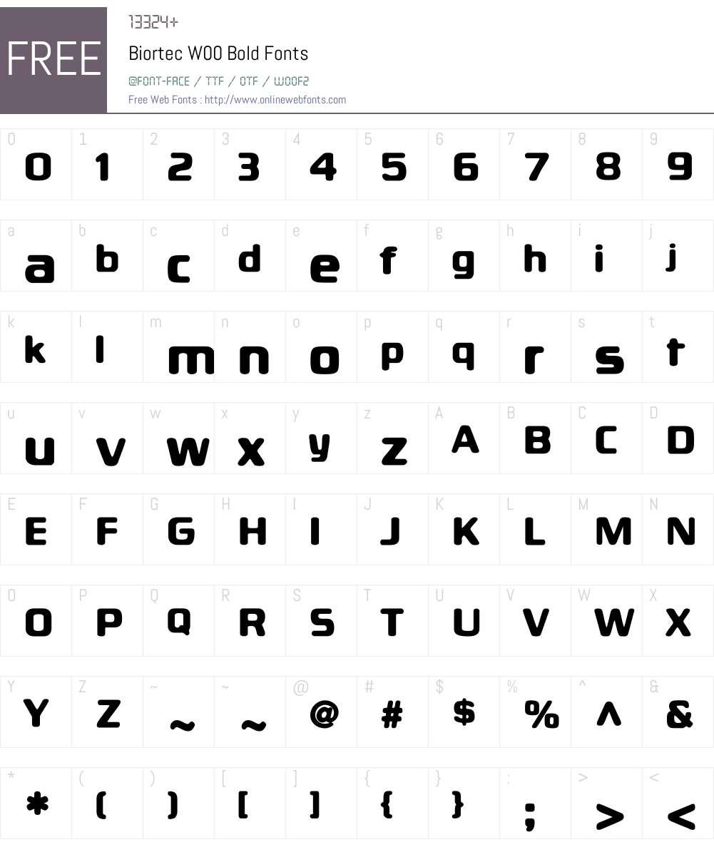 BiortecBold Font Screenshots