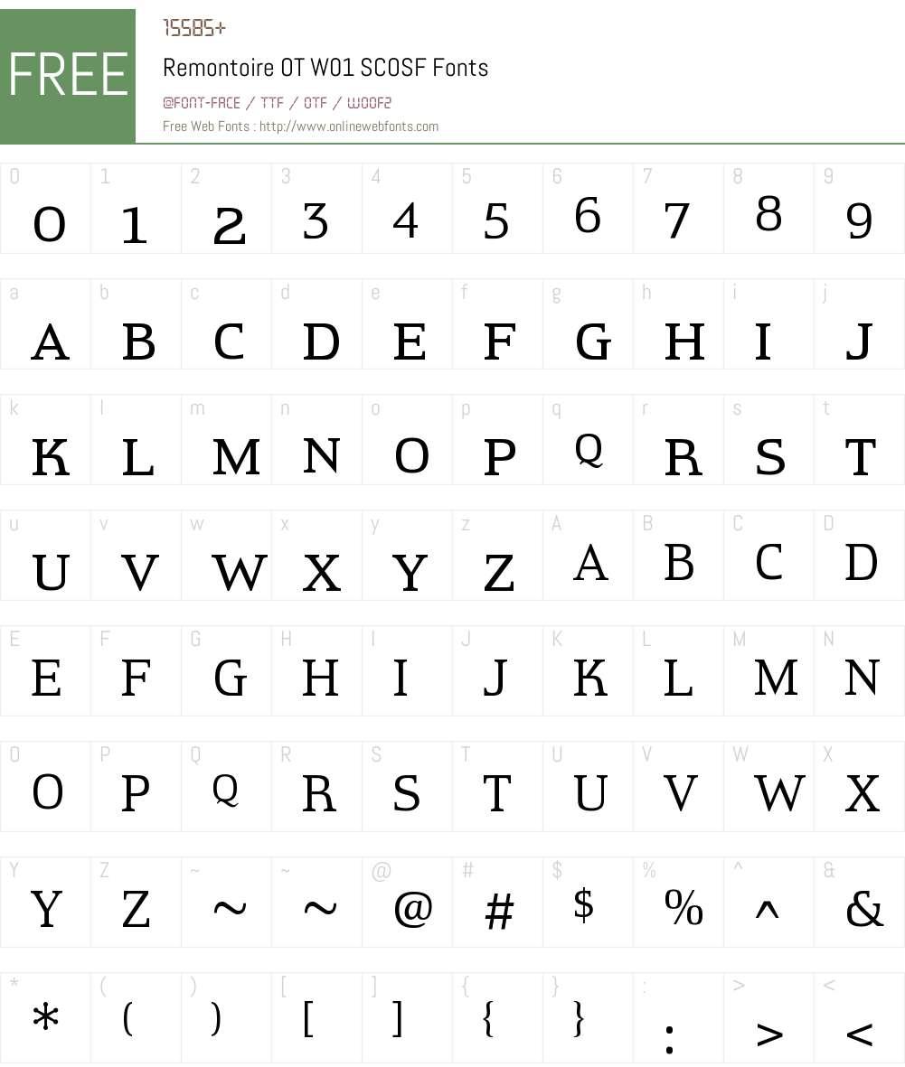RemontoireOTW01-SCOSF Font Screenshots