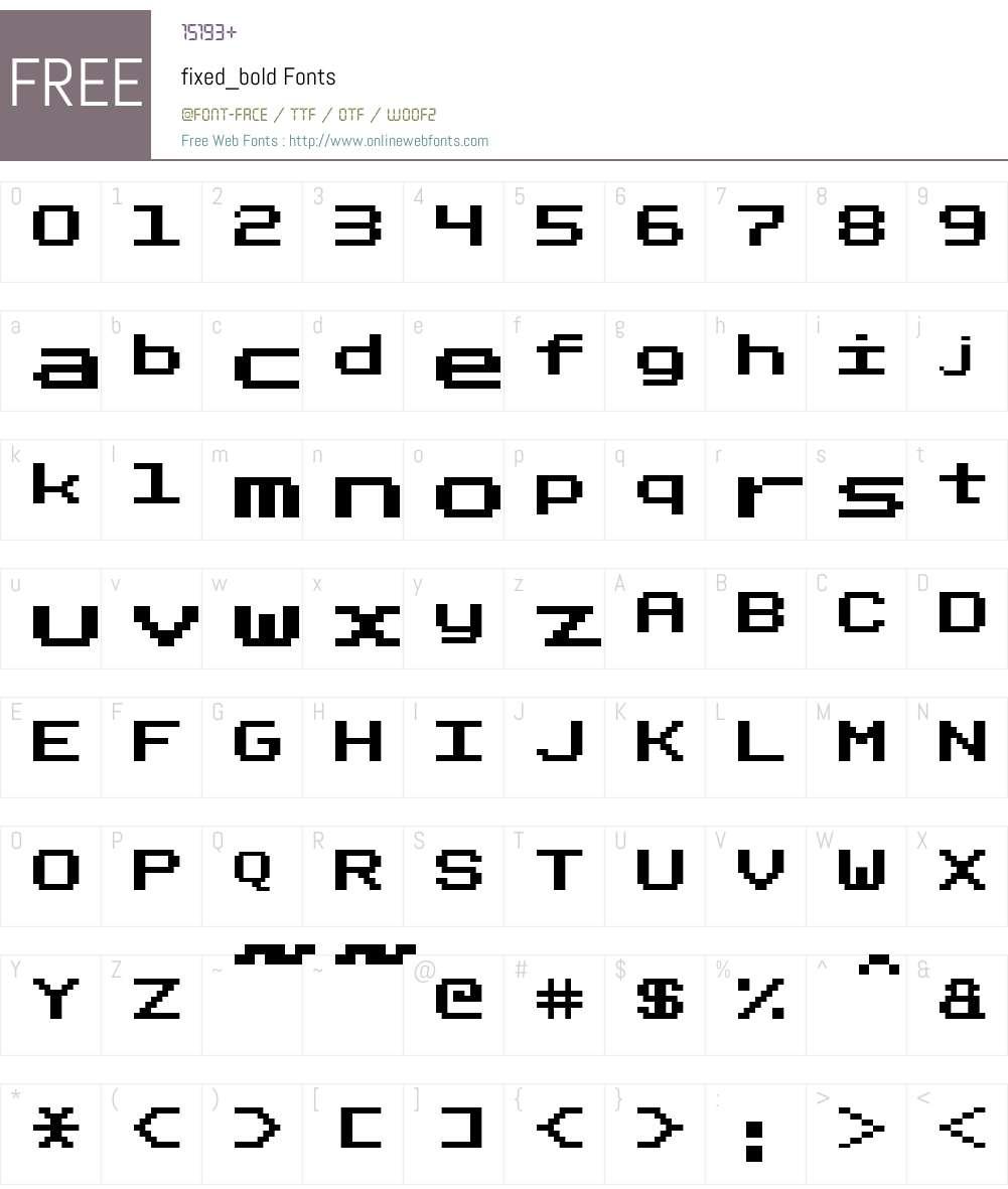 fixed_bold Font Screenshots