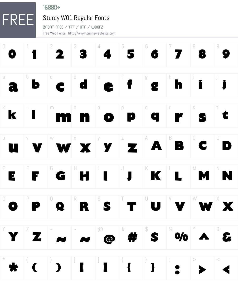 SturdyW01-Regular Font Screenshots