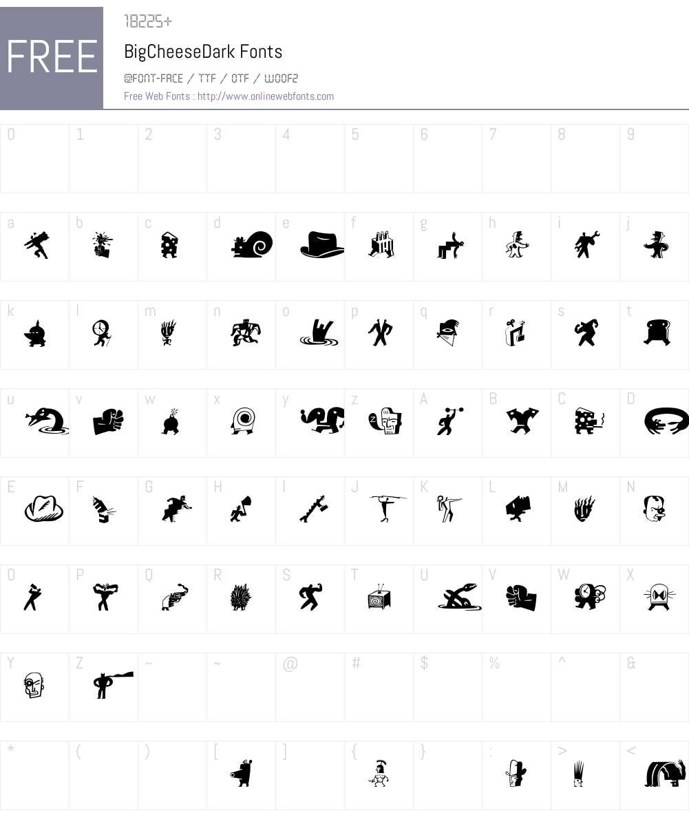 BigCheeseDark Font Screenshots